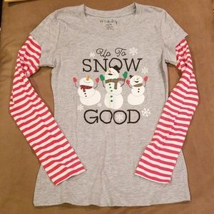 Up to snow good long sleeve top